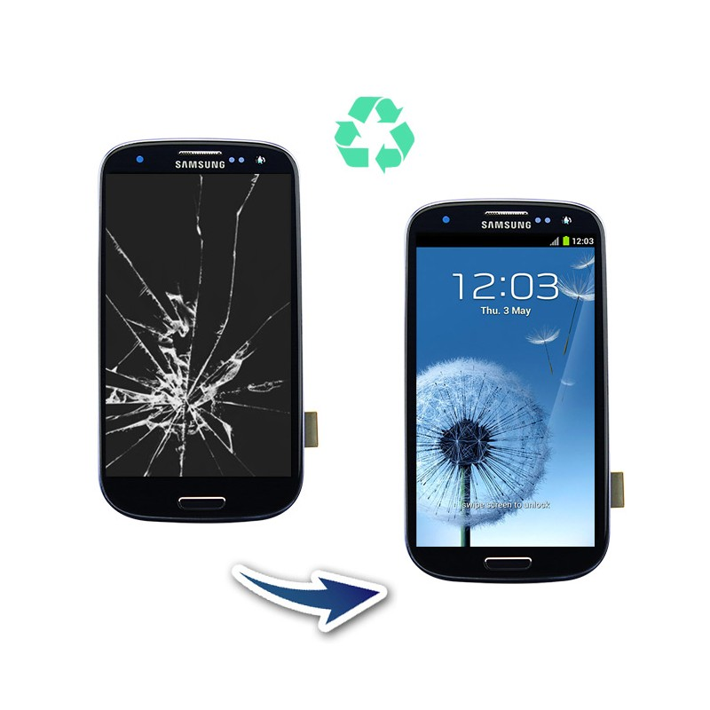 Prestation reconditionnement Samsung Galaxy S3 I9300 noir