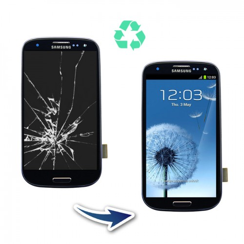 Prestation reconditionnement Samsung Galaxy S3 I9305 bleu