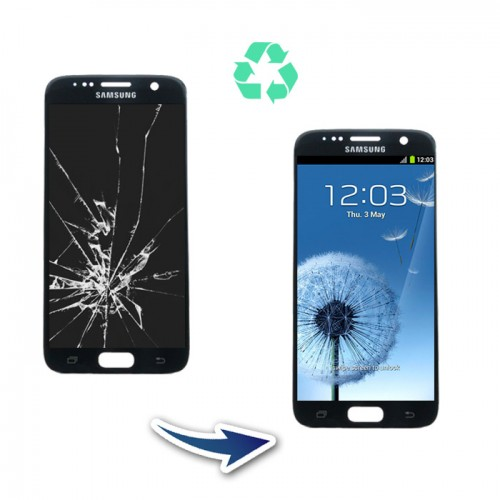 Prestation reconditionnement Samsung Galaxy S7 G930F noir