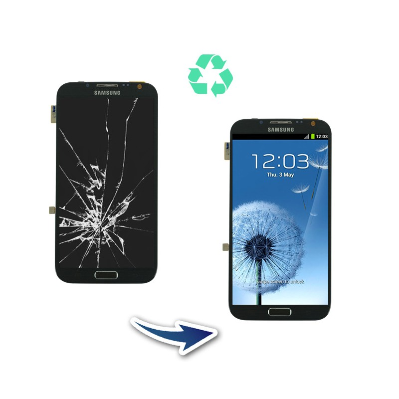 Prestation reconditionnement Samsung Galaxy Note 2 N7100 blanc