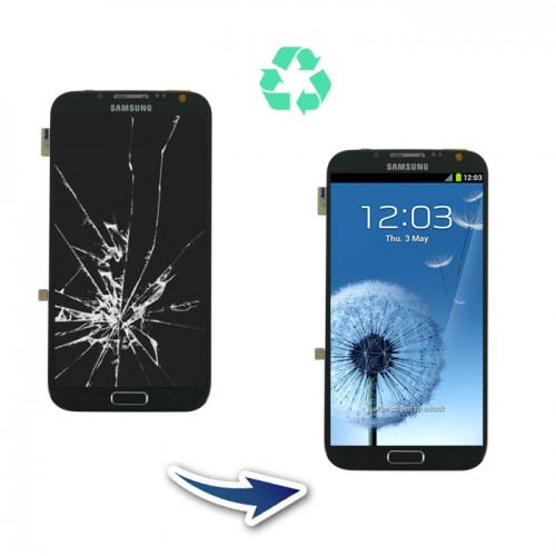 Prestation reconditionnement Samsung Galaxy Note 2 N7100 noir