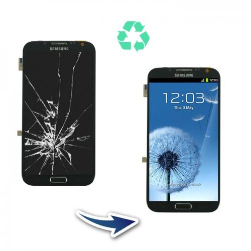 Prestation reconditionnement Samsung Galaxy Note 2 N7100 noir