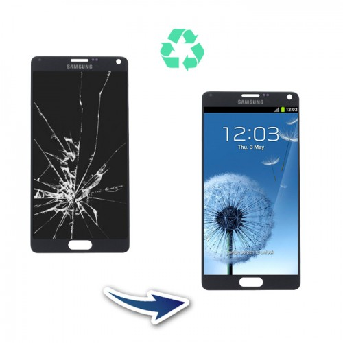 Prestation reconditionnement Samsung Galaxy Note 4 N910 blanc